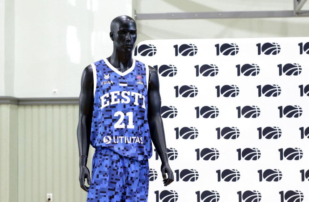 Eesti korvpallikoondise erikujundusega mängusärk