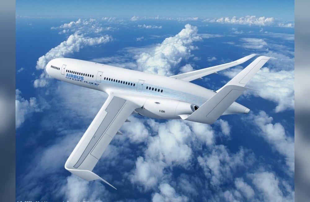 Airbusi ideelennuk maadleb aerodünaamikaga