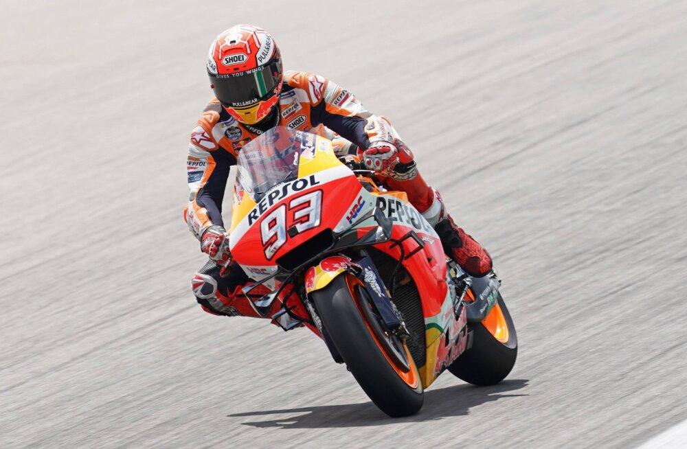 MotoGP: Valitsev maailmameister Marquez võidutses Saksamaal kümnendat aastat järjest