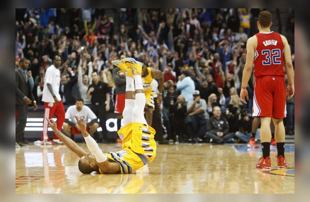 VIDEO: Nuggets võitis Clippersit vinge lõpusekundi kolmesega!