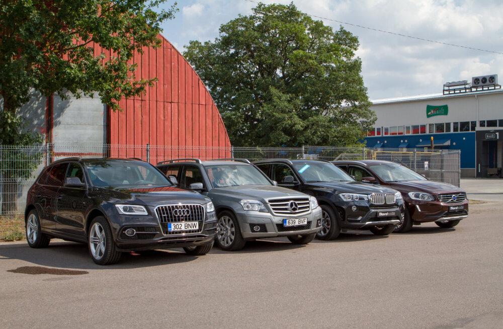 Milline on parim kasutatud linnadžiip? Mõõtu võtavad Audi Q5, BMW X3, Mercedes GLK ja Volvo XC60