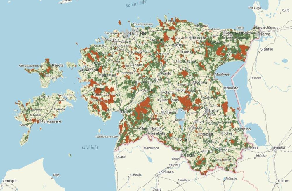 RMK uuest kaardirakendusest näeb riigimetsas tehtavaid metsatöid