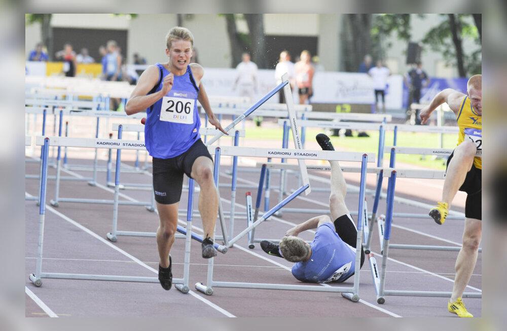 19-aastane Pedriks jooksis tõketes Eesti kõigi aegade kaheksanda aja