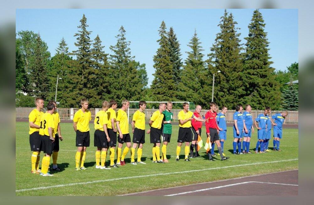 Maavõistlusmäng jalgpallis Pärnumaa vs. Viljandimaa