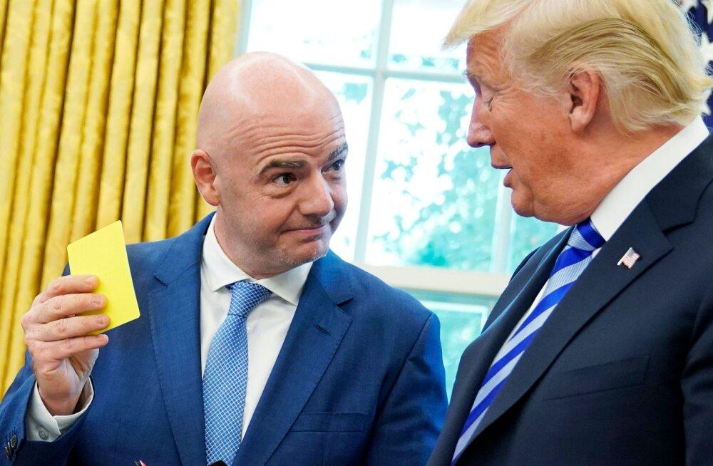 255727d4d28 Donald Trump kohtus FIFA presidendi Infantinoga.