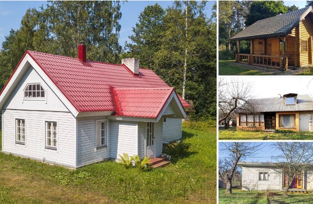 Erinevates Eesti kinnisvaraportaalides praegu müügis olevad suvekodud