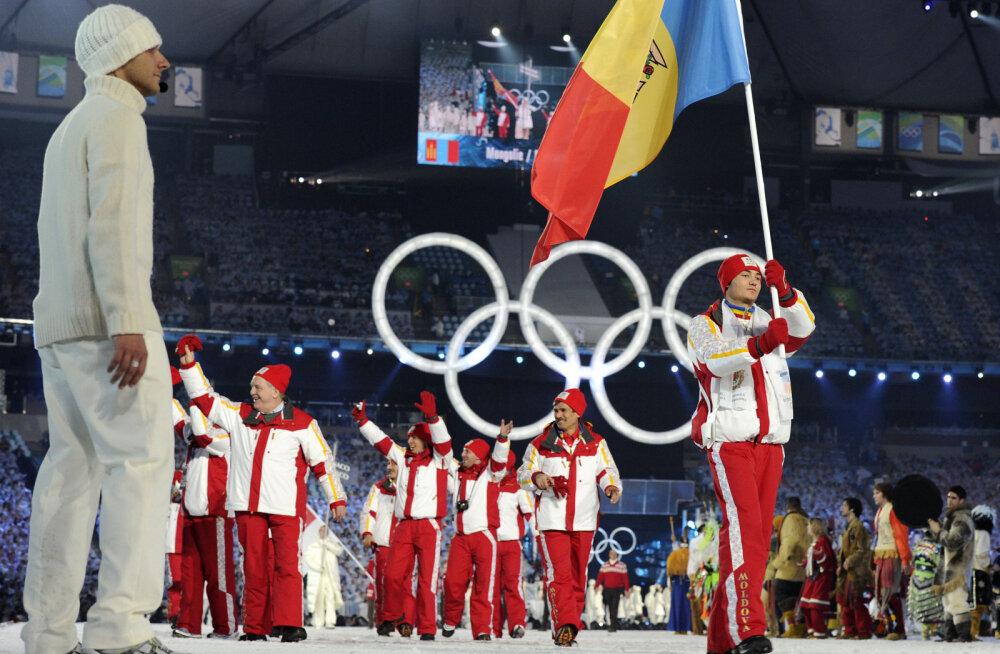 Moldova sportlased Vancouveri olümpia avatseremoonial