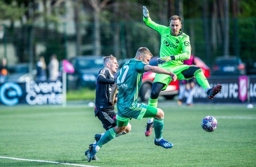 Tallinna Levadia ja Nõmme Kalju mängus oli võitlust küll ja veel.