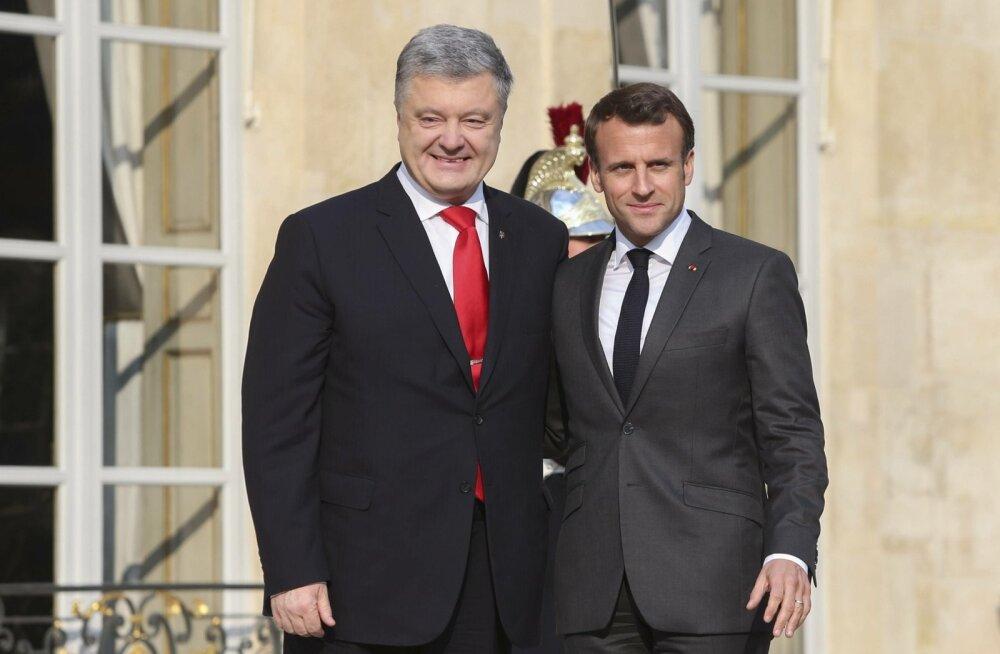 Emmanuel Macron, Petro Porošenko