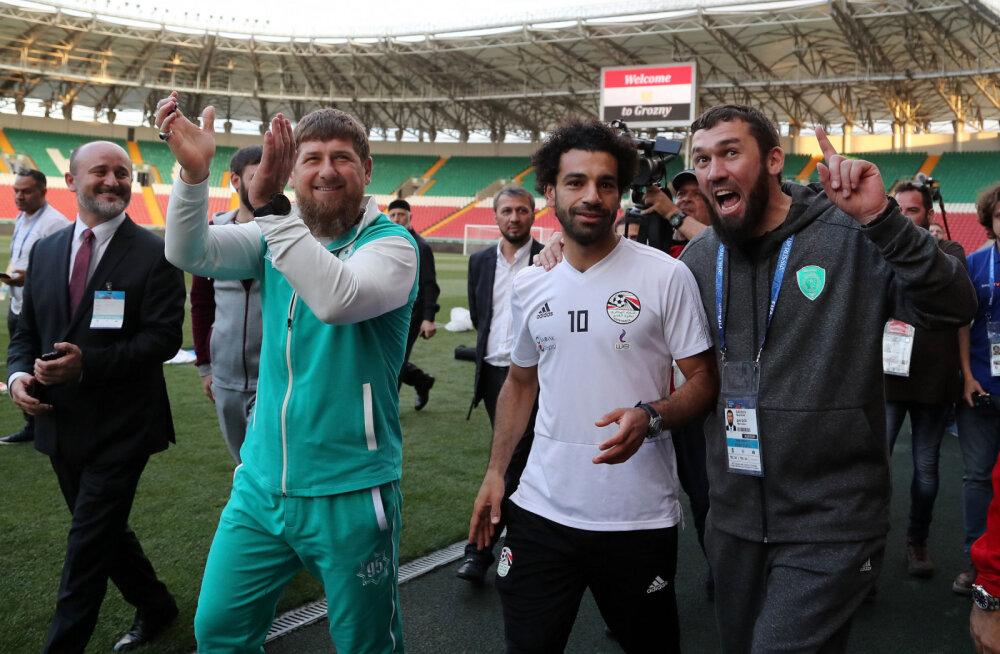 Кадыров и Салах в Грозном