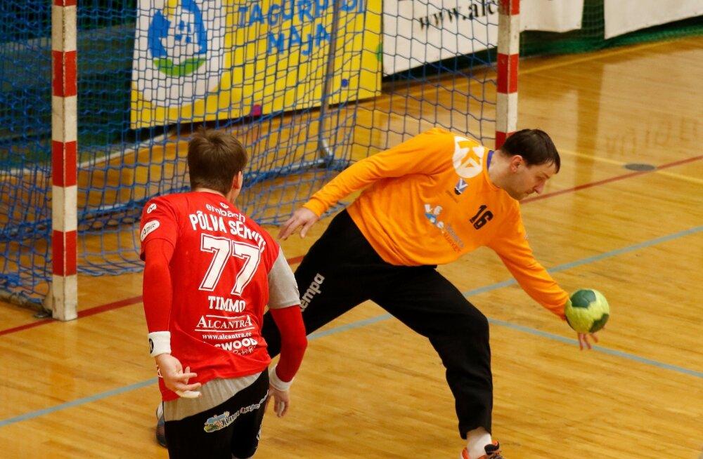 Siim Patrael hoidis heade tõrjetega HC Viimsi/Tööriistamarketit mängus, kuid tiitlikaitsja Põlva Serviti sai siiski 34:26 võidu