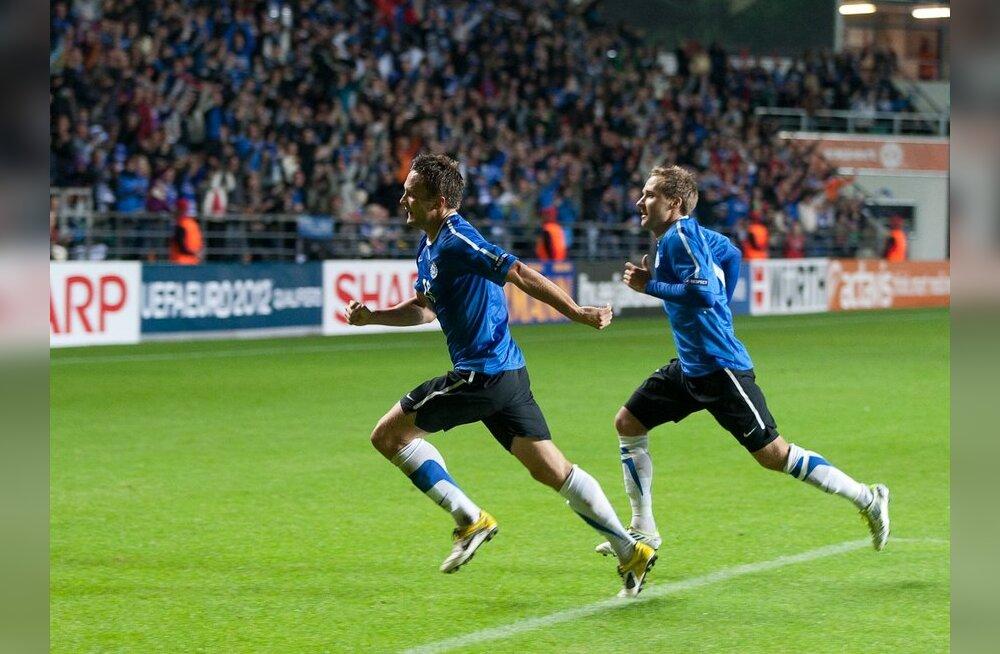 Martin Vunk on löönud koondise eest esimese värava, jalgpall