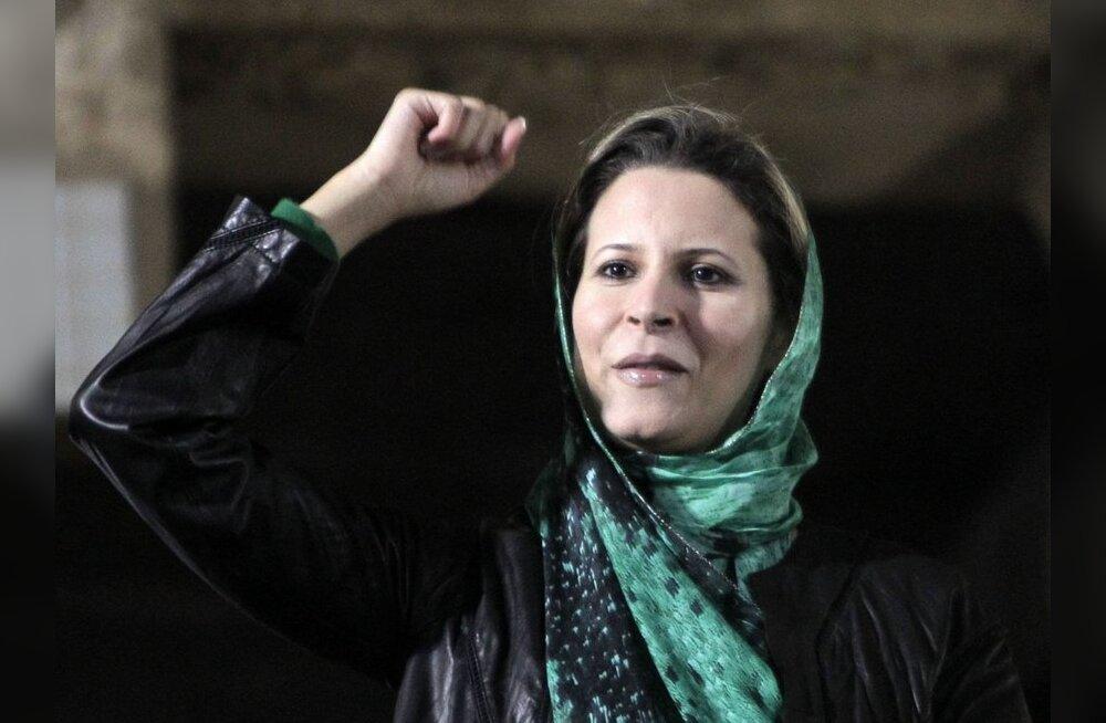 Gaddafi tütar sünnitas Alžeeria piiril