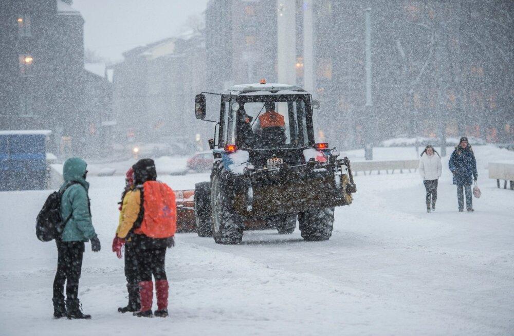 Lumesadu Tallinna keslinnas