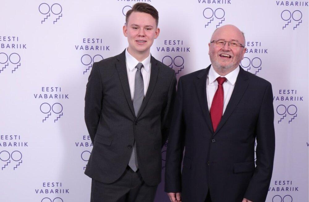 Riigikogu liige Igor Gräzin ja poeg Kaspar Gräzin