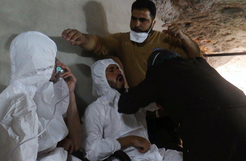 Venemaa väitel ründas Süüria armee mässuliste keemiarelvaladu