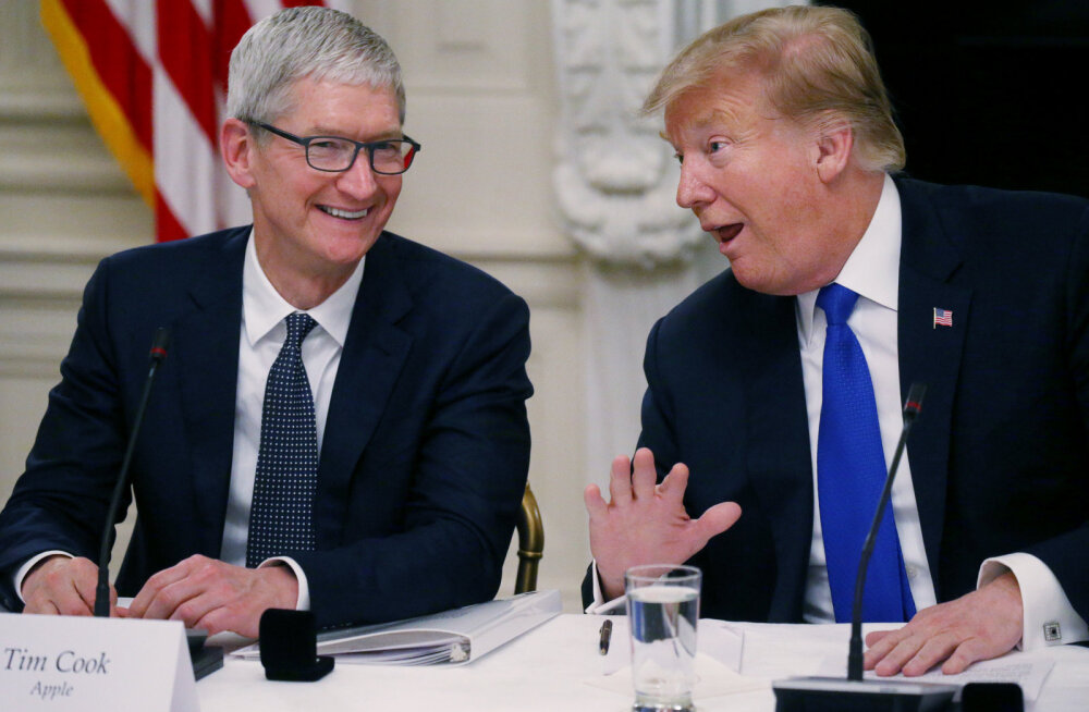 VIDEO   Naljakas aps: president Trump kutsus Apple'i tippjuhti ekslikult Tim Apple'iks