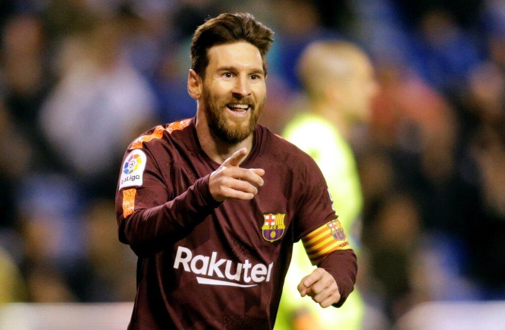 Lionel Messi tüüris FC Barcelona järjekordse tiitlini.