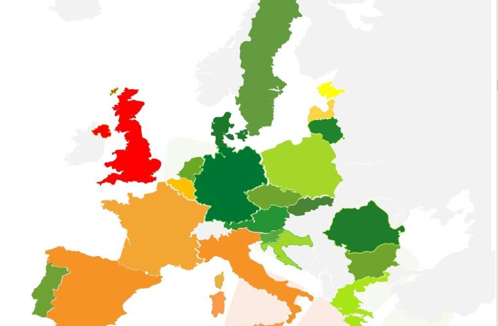 TABEL | Euroopa reklaamiagentuuride kindlustunne kasvas pärast ülisuurt langust taas