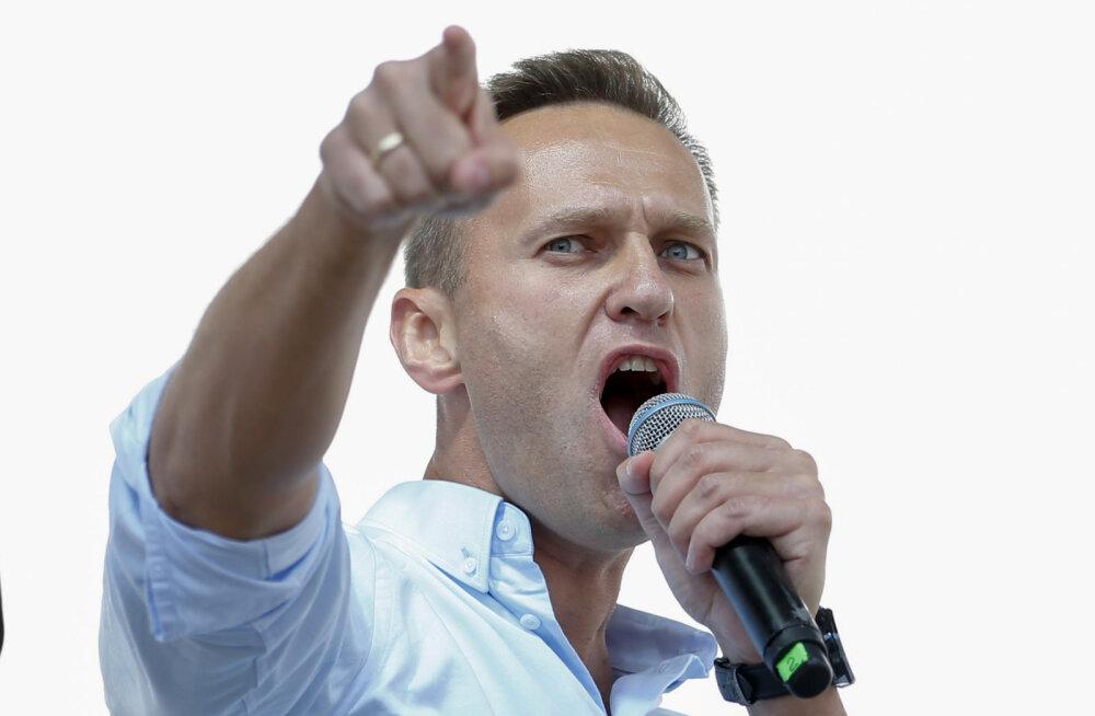 """Vene opositsionäär Navalnõi vahistati naise sünnipäeval """"trussikute väel"""""""