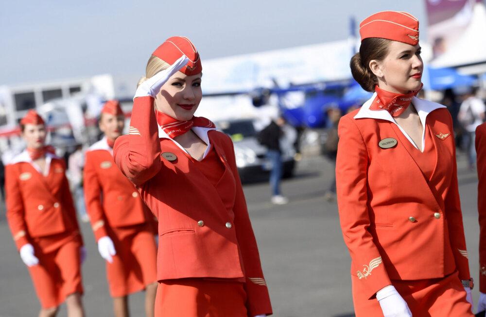 """""""Paksud ja koledad"""" pardateenindajad on Aerofloti peale pahased"""