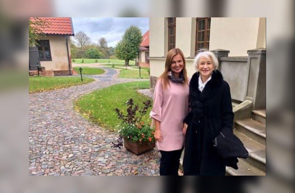 Mis seos on Helen Mirrenil Lätiga? Filmitäht kolis lausa ajutiselt lõunanaabrite juurde