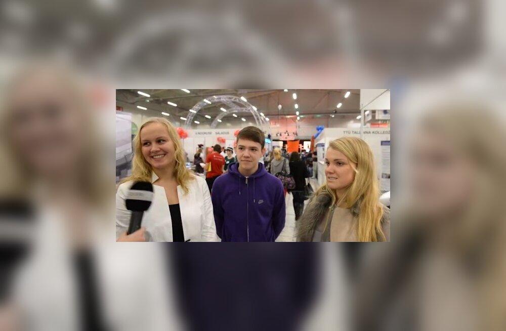 DELFI VIDEO: Millistesse ülikoolidesse lähevad noored ja kui palju nad suvel raha on teeninud?