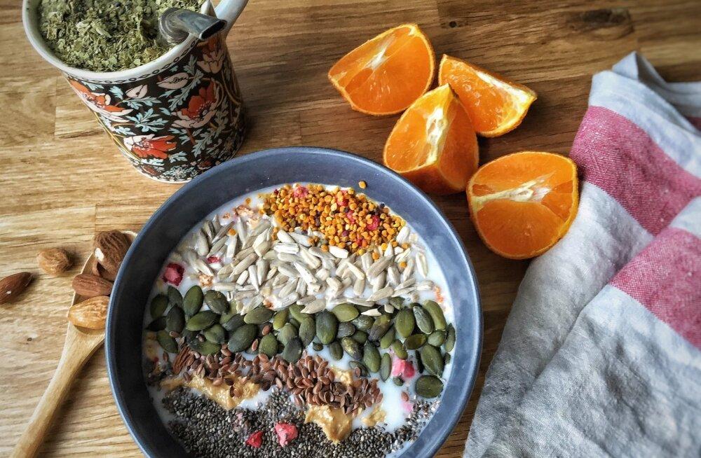 RETSEPT | Oi, kui ilus see välja näeb! Kodune mitmeviljapuder seemnetega