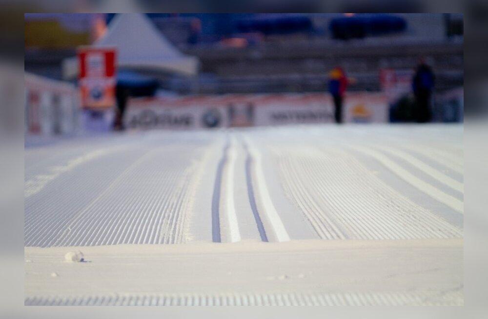 Laskesuusatamine: suurvõistluse korraldustoimkond võitleb lume ja külmaga