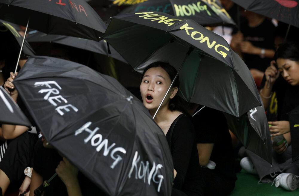 Hongkongi protestijad tulid võimude keelust hoolimata tänavatele