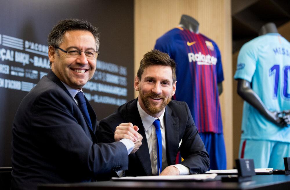 Uus pööre: Barcelona president on valmis ametist lahkuma, et Messi jätkaks klubis