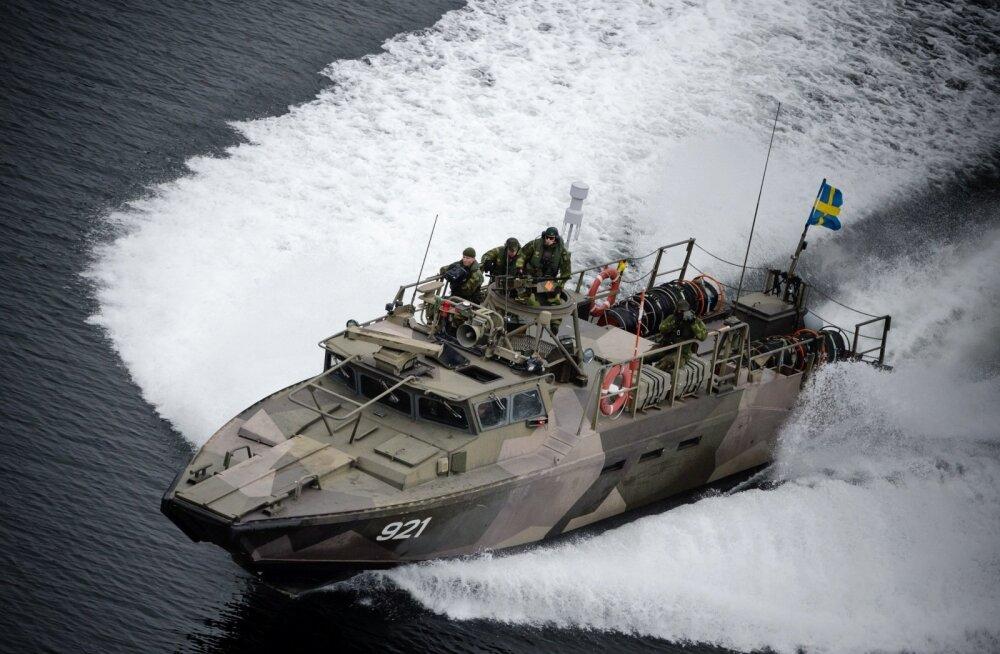 Ajaleht: suurt mereväeõppust Rootsis segas tundmatu droon