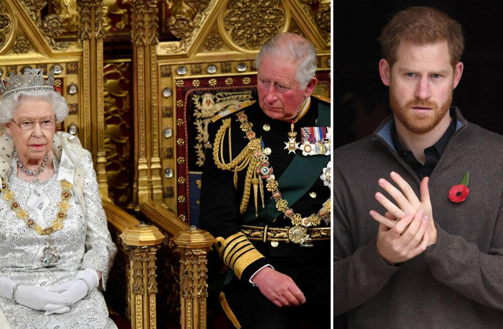 Kuninganna Elizabeth ll ja prints Charles on äärmiselt mures Harry pärast: ta on iseenda vari ja emotsionaalselt väga haavatav