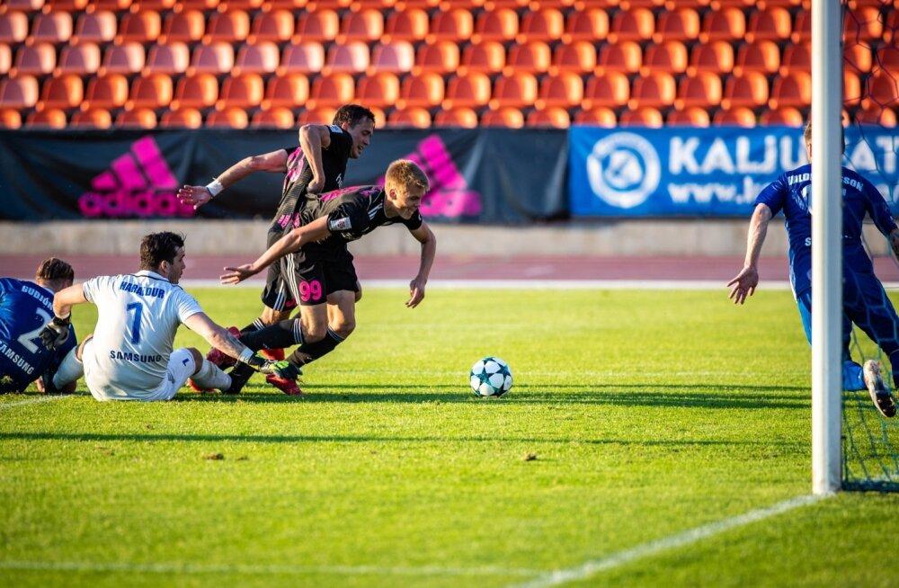 Koduväljakul suutis Nõmme Kalju küll Stjarnani tänu 16-aastase Alex Matthias Tamme (nr 99) väravale 1 : 0 alistada, kuid jäi kokkuvõttes islandlastele 1 : 3 alla. Kalju viieaastane eurosarja seeria lõppes.