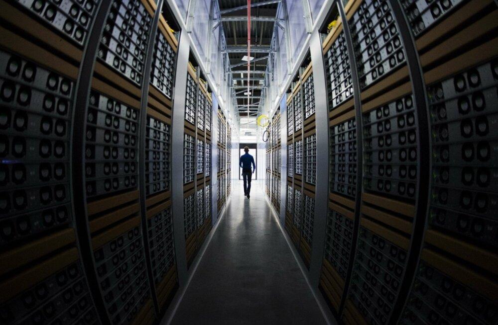 Facebooki andmekeskuse serveriruumid Põhja-Rootsis Lapimaal