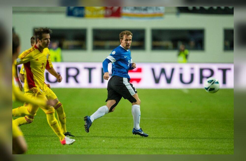 Konstantin Vassiljev kohtumises Rumeeniaga, jalgpall