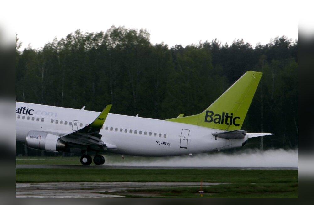 Riia lennuväljal tegi hädamaandumise AirBalticu reisilennuk