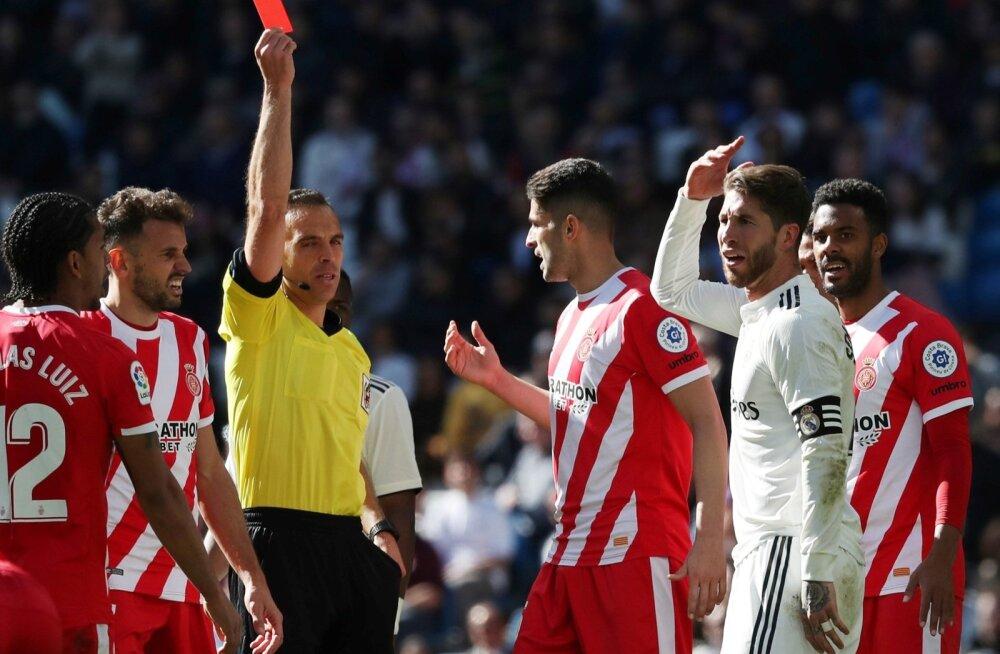 Sergio Ramos nägi punast kaarti.