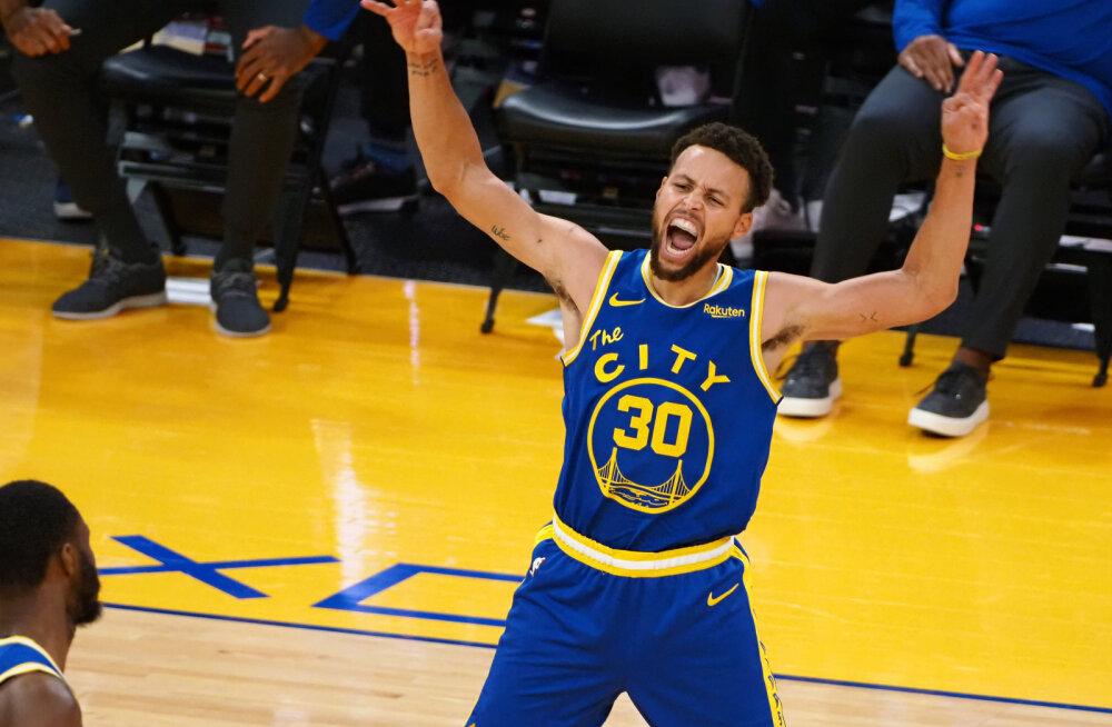 VIDEO   Curry vedas Warriorsi suurest kaotusseisust Clippersi vastu võidule