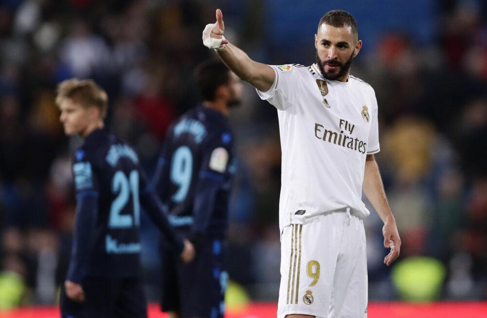 Real ei petnud fännide lootusi ja tõusis Barcelona kõrvale