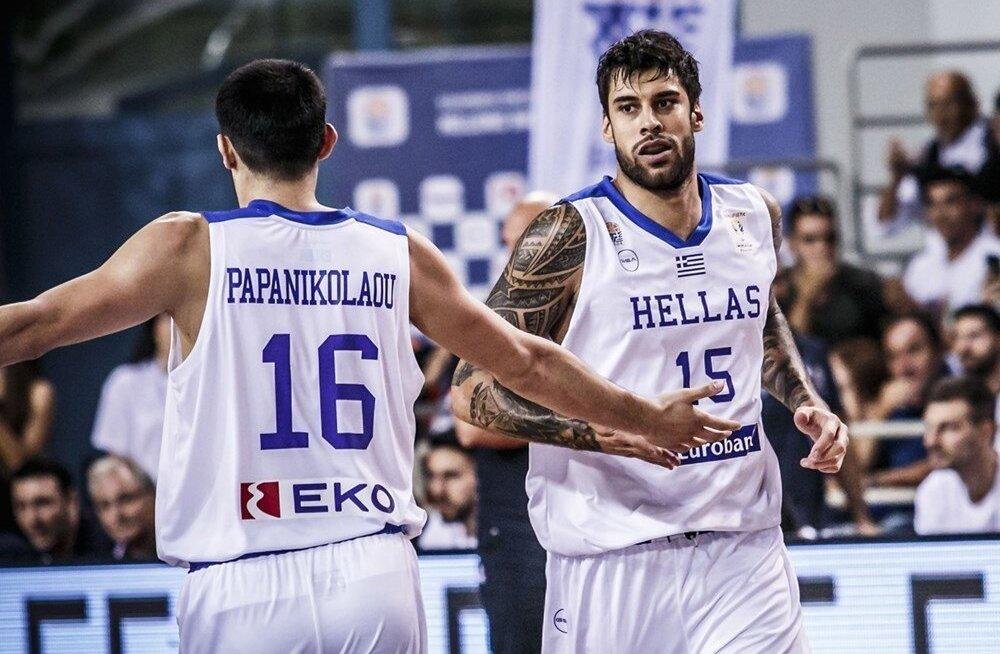 VIDEO | Lõpusekundi viskest võitnud Kreeka kindlustas esimese Euroopa riigina pääsme korvpalli MM-ile