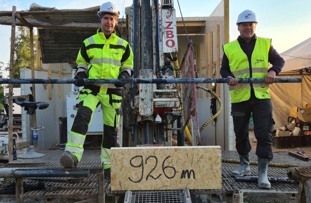 Täna varahommikul purustati Eesti süvapuurimise rekord