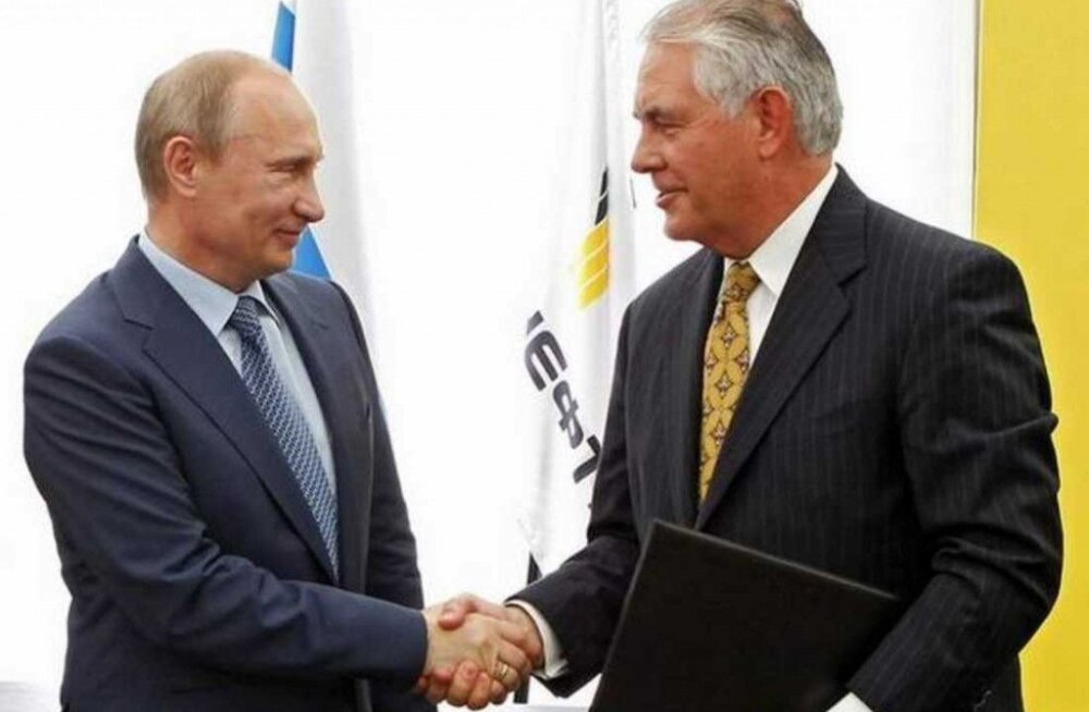 Trumpi arvatava välisministri Rex Tillersoni seotus Putiniga tekitab küsimusi