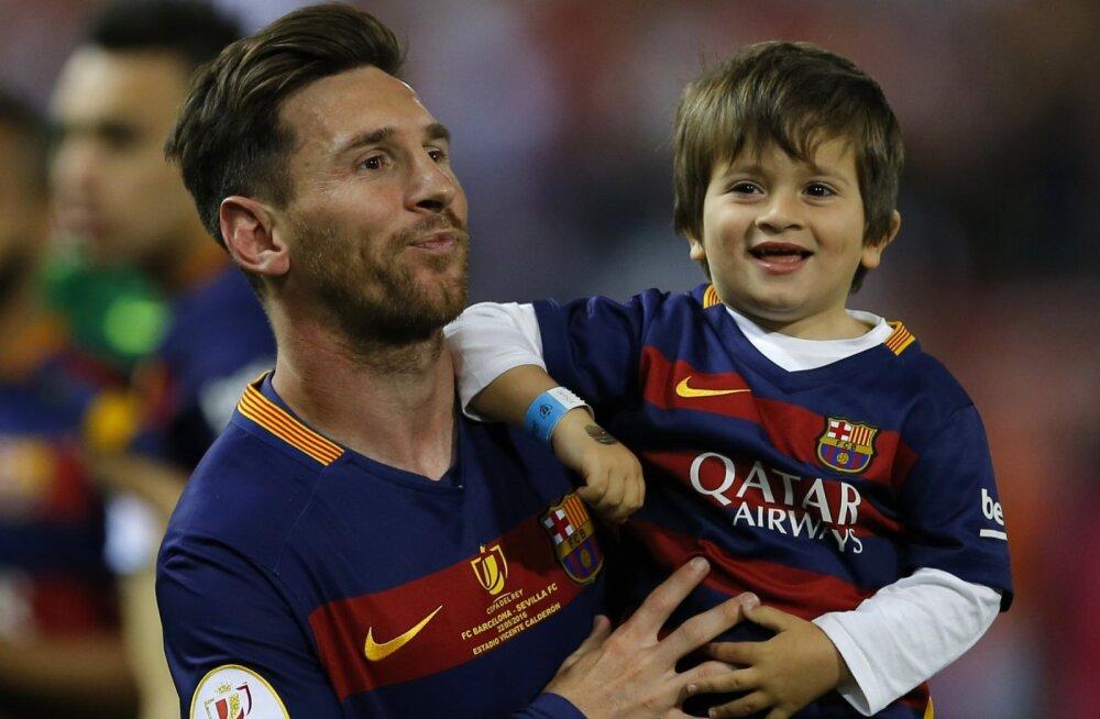 FOTO | Pallivõlur Lionel Messi sai kolmandat korda isaks
