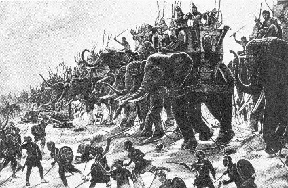 Kes kasutas esimesena sõjas elevante?
