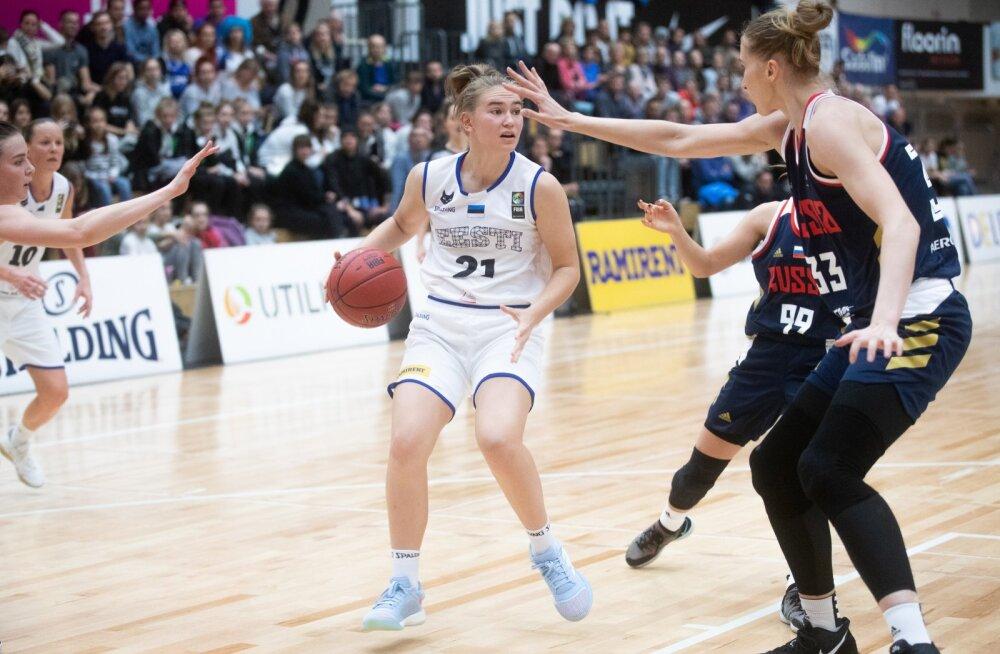 Naiste korvpall, Eesti vs Venemaa