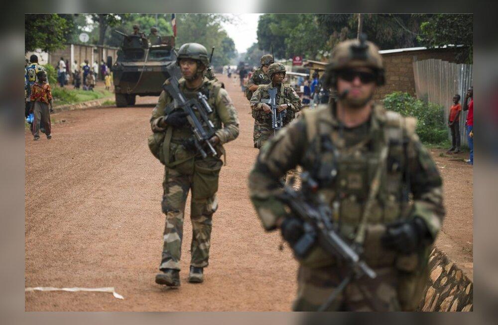 Prantsuse sõdurid KAV-i pealinnas Banguis