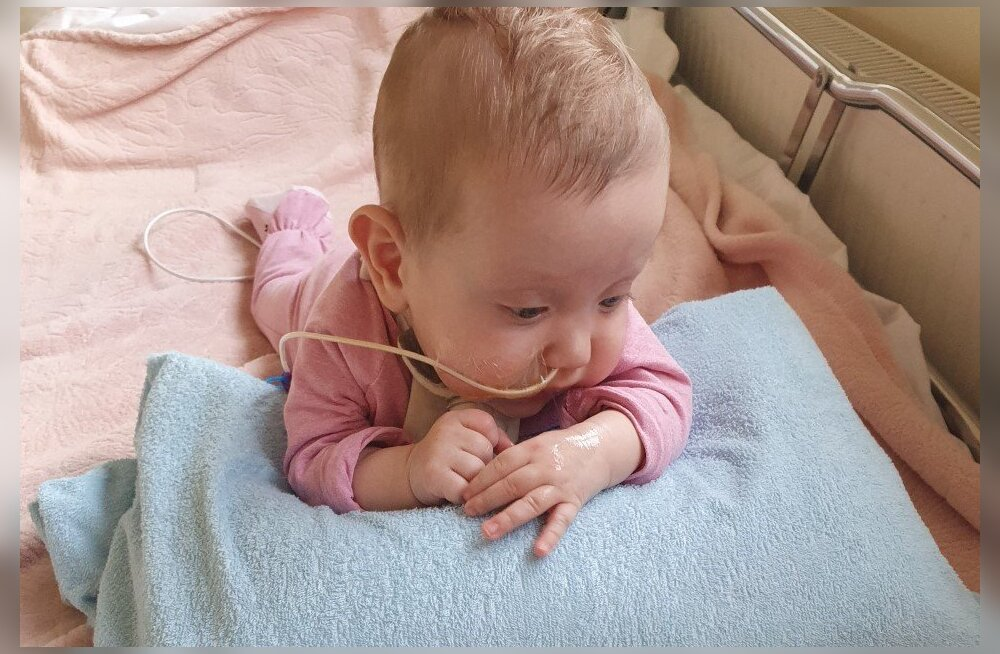 Ulata abikäsi! Pooleaastane pisitüdruk vajab eluliselt tähtsaid aparaate, tarvikuid ja ravitoitu