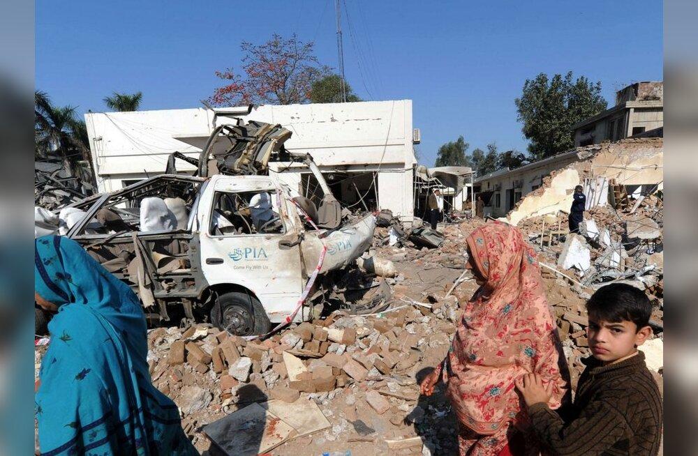 Pakistanis hukkus pommirünnakus matustele 37 inimest