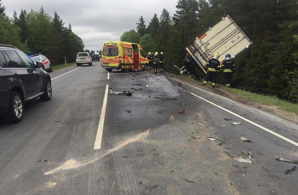 Liiklusõnnetus Tallinna-Haapsalu maanteel
